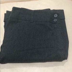 Grey boot leg dress pants, size 14